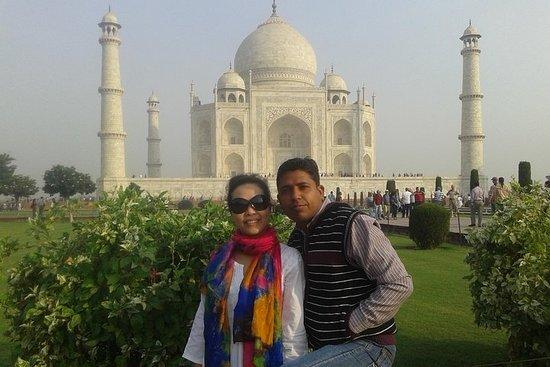 Lever du soleil privé Taj Mahal & Agra...