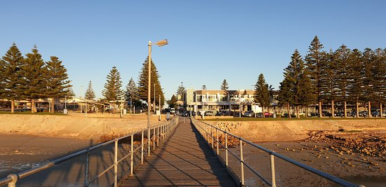 CEDUNA JETTY    looking back to the town in the golden hour