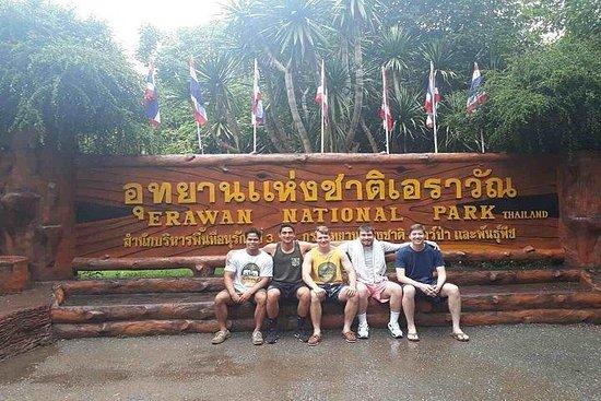 曼谷私人的四面佛瀑布,葵河和死亡鐵路之旅