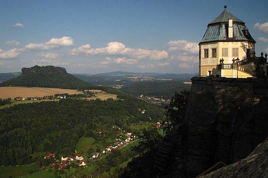 Bastei-bron och fästningen Königstein ...