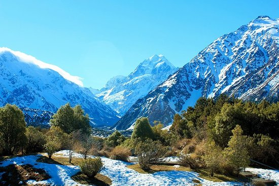 Aoraki-Mt Cook Tasman Glacier & Alpine Centre scenic day tour from...