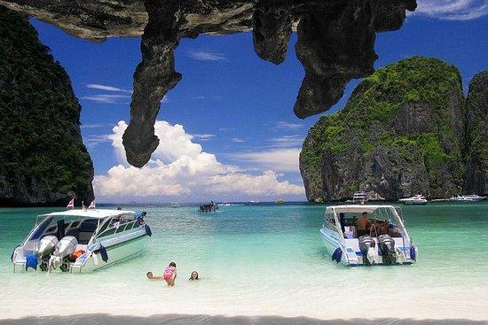 Ilha Phi Phi e Khai em lancha rápida