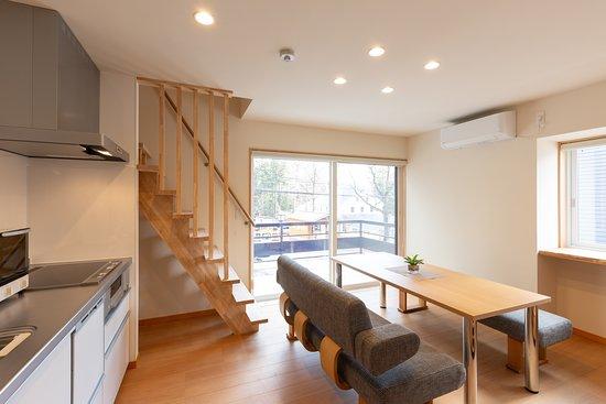 2 Bedroom Suite Living Room & Kitchen