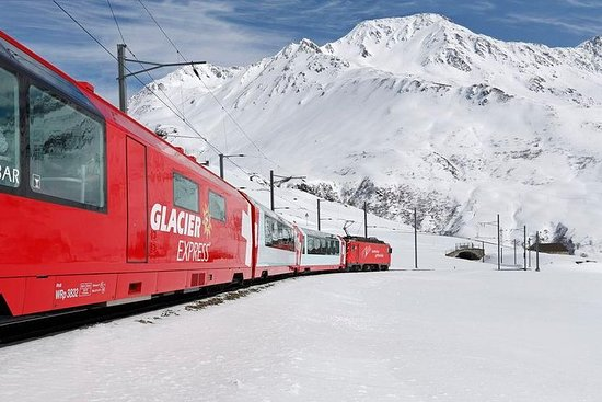 Glacier Express Panoramic Train Round Trip in one Day Private Tour...