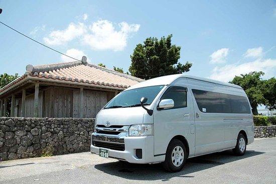 貸切のハイエースバンで沖縄を探索 (那覇、美ら海水族館、古宇利島)