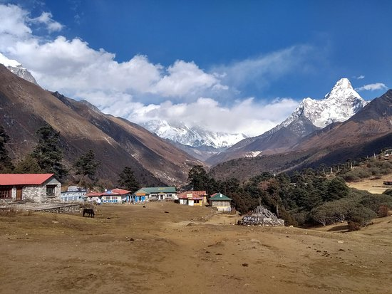 Budget Trek To Everest Base Camp - Fixed Departure Dates: The view from Tengboche