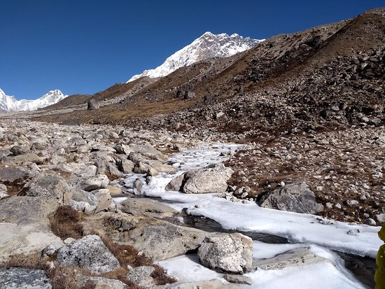 Budget Trek To Everest Base Camp - Fixed Departure Dates: Frozen Rivers on the way to Lobuche