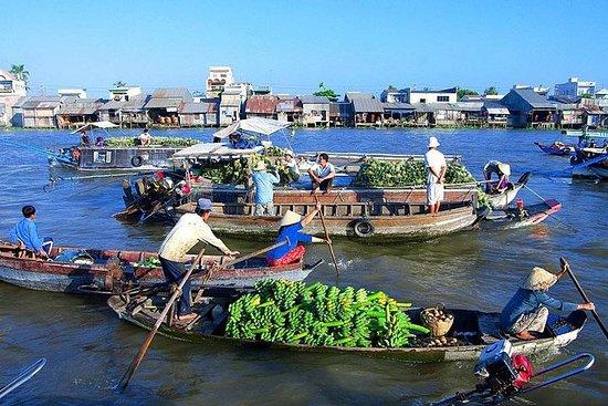 湄公河三角洲浮动市场一日游来自西贡的蔡贝和永隆