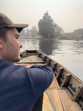 Heading for Burigana shipyards  (Dhaka Photography Tour)