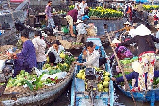 Cai Be Floating Market和来自西贡的Vinh Long...