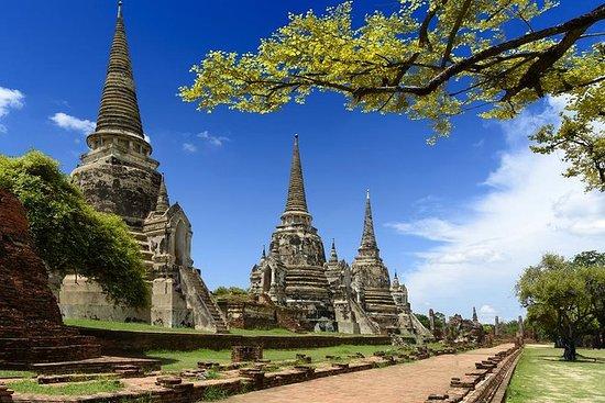 從曼谷的大城府寺廟和浮動市場一日遊
