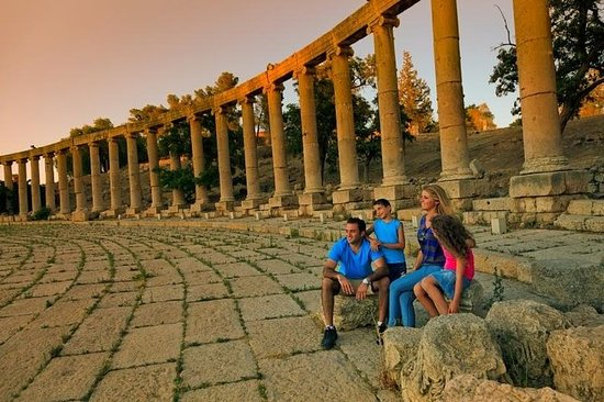 Halv-dagars Jerash romerska ruiner och ...