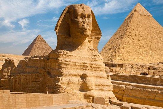 開羅突出了吉薩金字塔,埃及博物館和kHAN Al Khalili的一日遊