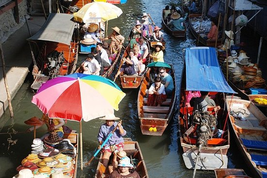 Damnoen Saduak Floating Market og Phetchaburi Day Tour