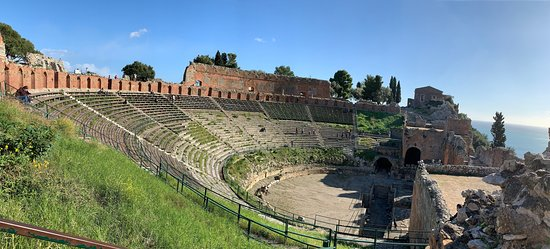 Ticket to the Taormina Theater: From the side