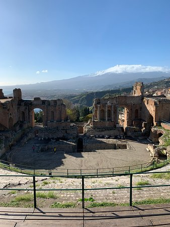 Ticket to the Taormina Theater: View of Mount Etna