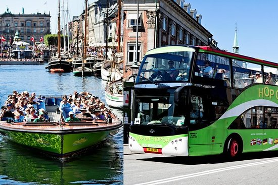 Copenhagen Hop-On Hop-Off Tour by Bus and Boat & entrance to Tivoli...