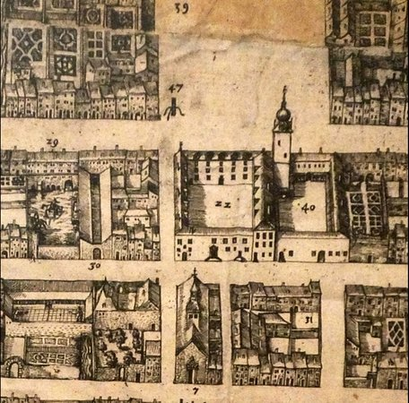 Nancy - place Charles III - plan de 1611 de la Ville-Neuve de Nancy
