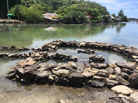 Huahine Archipel de la Société, Polynésie française  Pièges à poissons de Fa'Una Nui