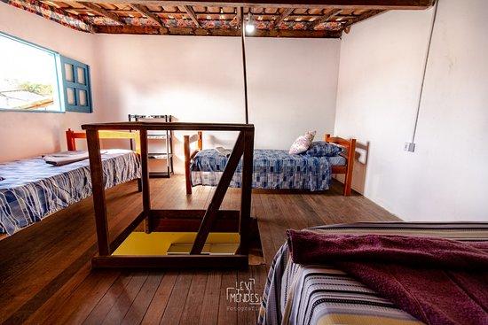 Itacare, BA: Apto superior. Mezanino com cama de casal e duas de solteiro