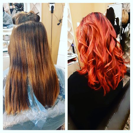Lovely highlights in spicy red