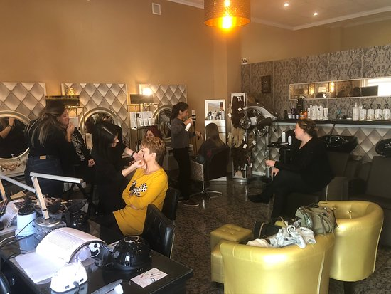 Friends come together for hair and makeup