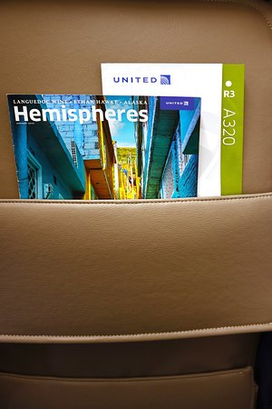 United Airlines: UA1278 PHX to LAX AirBus A320 FC Seat 2F - Seatback Pocket