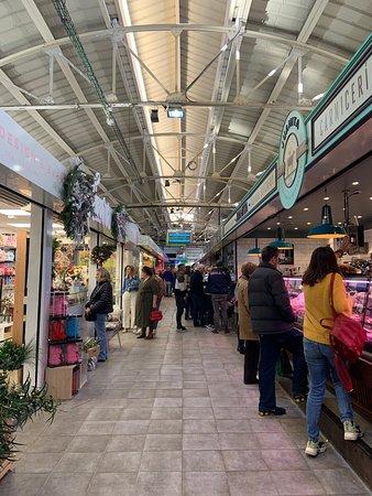 Bustling food market