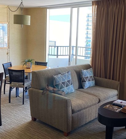 View of Waikiki from living room