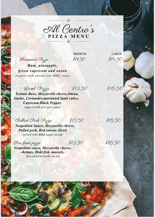 Pizza menu page 2