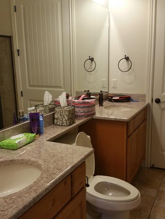 Master Bathroom with his and hers sinks