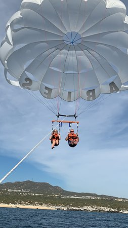 Nothing like parasailing with Aries Water Sports
