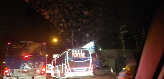 O unico lugar q os ônibus  da vestidos de luz