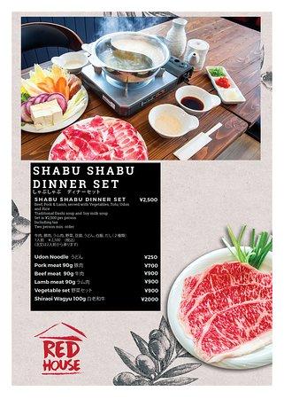 Shabu-Shabu Set. 2 Person minimum order. Hokkaido, Wagyu Beef Available!