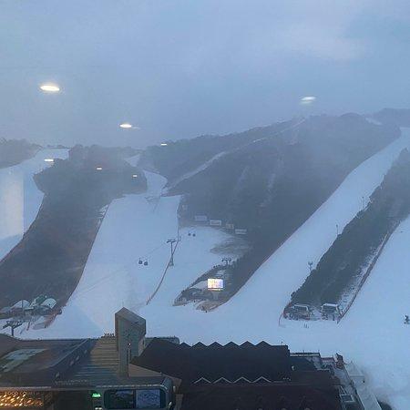 The man made snow ski resort