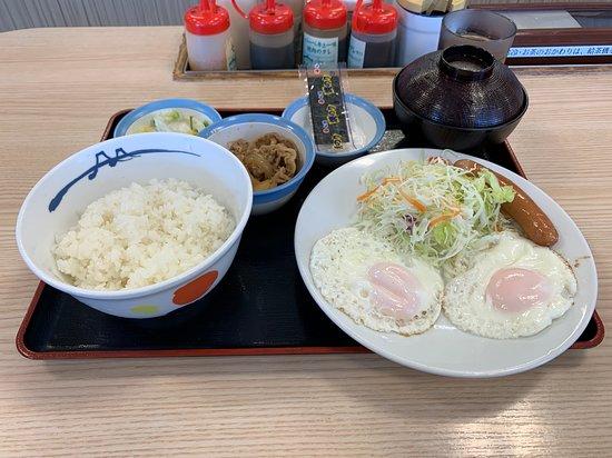 ソーセージエッグW定食