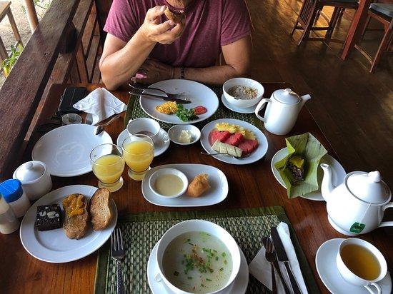 En del av frukosten du kunde välja på