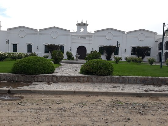 The winery has a separate entrance from the hotel and a spacious parking