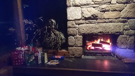 Night time toasty fire place