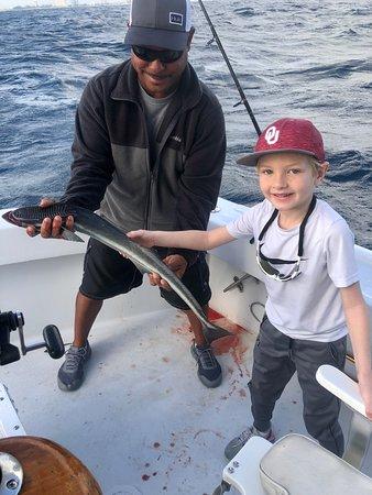 Young son had a blast reeling in this remora (suckerfish).