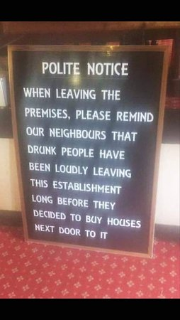 Polite Notice Please respect our neighbours sign