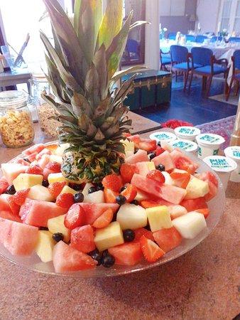 Brunch, ontbijt en dessert: verse fruitsla.