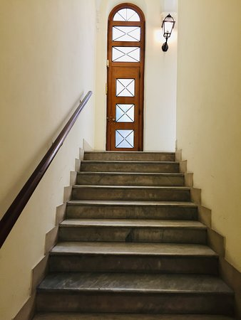 Walk up a stair and take the elevator