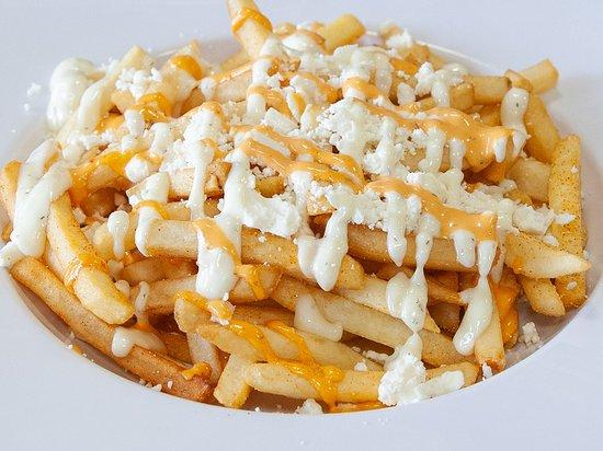 feta and garlic loaded fries @gyrofreshpdx