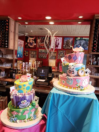 Donating Mad Hatter Tea Party Cakes to the Georgetown Library Fundraiser