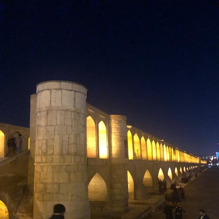 Isfahan Province, Iran: Famous 33 bridge of Isfahan