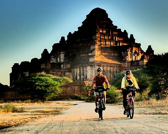 Mountains and Lake Bike Adventure: Biking in the Pagodas of Bagan, recently named a Unesco World Heritage Site.