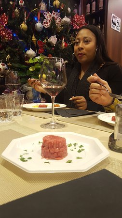 Tartare of Fassona beef from Piedmont... A delish you should try!