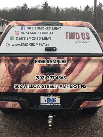 We were excited to complete the wrap of the new truck.  Details (Find us on Trip Advisor), our website, facebook-instagram, and the license plate:  WEK8R - We Cater