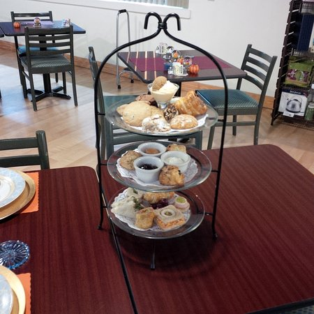Belpre, OH: We conduct afternoon teas by reservation about once a month.  Watch our website or Facebook page for announcements.